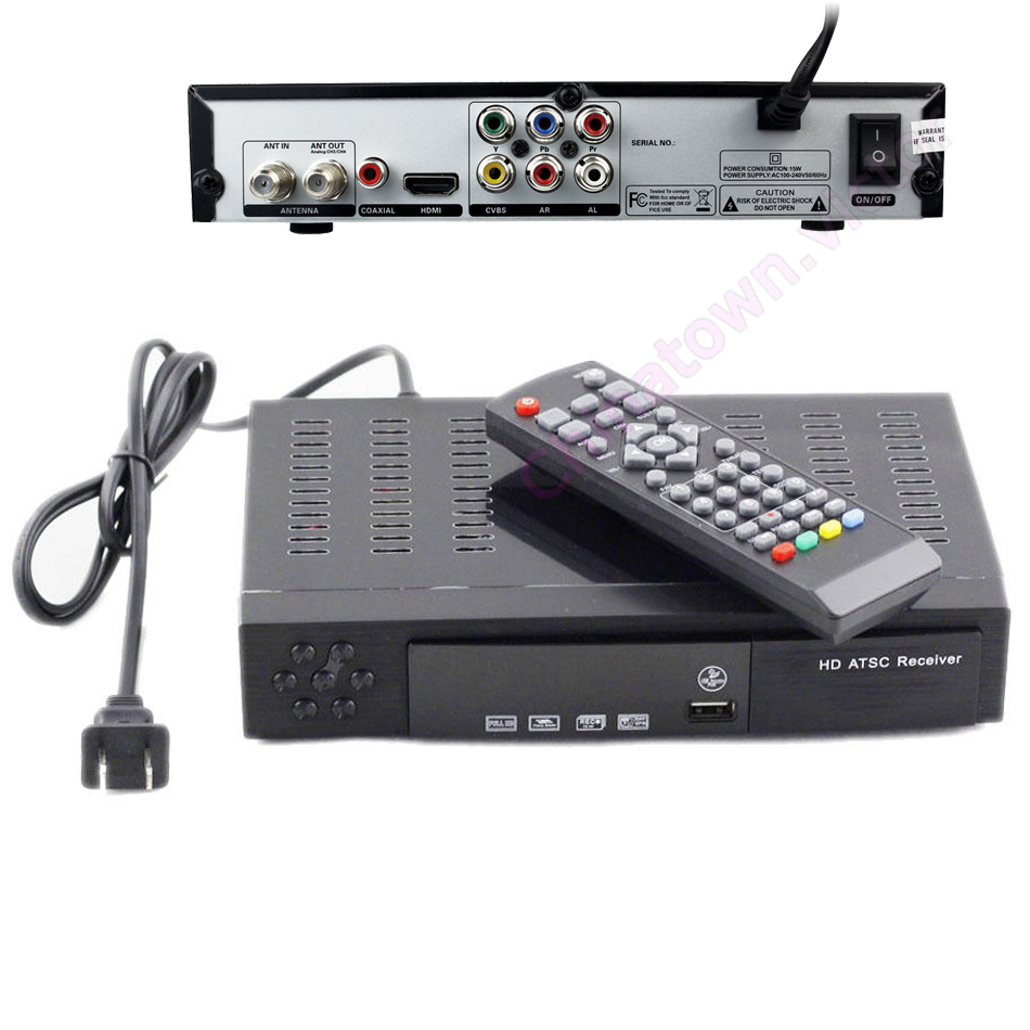 full hd 1080p digital terrestrial atsc tv receiver box tv tuner usb hdmi mpeg2 4. Black Bedroom Furniture Sets. Home Design Ideas